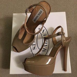 "Steve Madden Taupe Patent ""Sirena"" Heels"